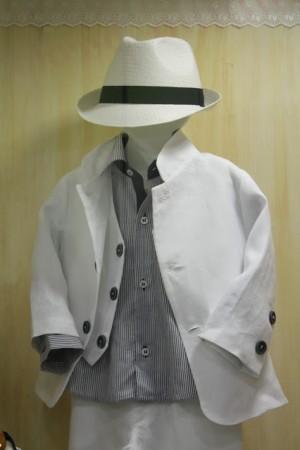 Βάπτιση Αγόρι Ρούχα - λινο σπορ κουστουμι με σακακι